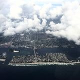 Aerial view of florida coast before hurricane Royalty Free Stock Photos