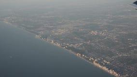 Aerial view of Florida coastline stock video