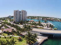 Aerial view of Florida coastline Royalty Free Stock Photography