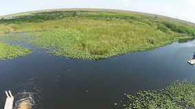Aerial view of the Florida Everglades Royalty Free Stock Image