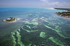 Aerial View of the Florida Keys stock photos