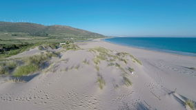 Aerial View From Flying Drone on Tarifa Area in Spain stock video footage