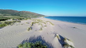Aerial View From Flying Drone on Tarifa Area in Spain stock video