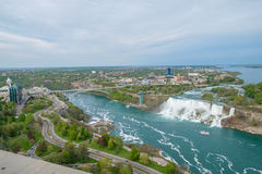 Aerial View fo the Niagara Falls. From the Canadian side Royalty Free Stock Photo