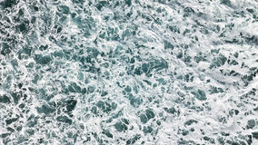 Aerial view of the foam, spray and turquoise sea water.View fro Stock Photography
