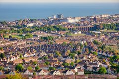 Folkestone seaside port town on the southern edge of the North D royalty free stock image