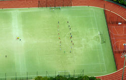 Aerial view of football soccer stadium Stock Photography