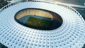 Aerial view of football stadium in Kyiv.  stock footage