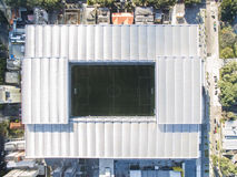 Aerial view of football stadium of the paranaense athletic club. Arena da baixada. Curitiba. Parana. July 2017. Aerial view of football stadium of the Royalty Free Stock Images