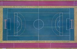 Aerial view of  Football stadium. Soccer field. Aerial view of Football stadium. Soccer field top view from above Stock Images
