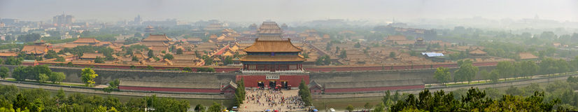 Aerial view of Forbidden City. Beijing. China. Big panoramic view of Forbidden City from Beijing. China Royalty Free Stock Image