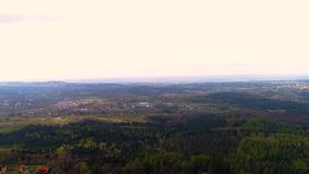 Aerial view of Forest. Flying over Magical Forest in the mountains. Beautiful view of nature. Traveling background stock video footage