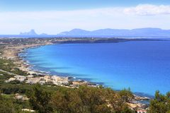 Aerial view Formentera balearic island Royalty Free Stock Image