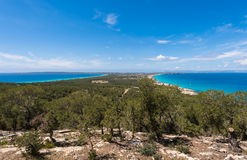 Aerial view Formentera island Royalty Free Stock Photos