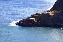 Aerial view of Fort Amherst, Newfoundland, Canada. Stock Photo