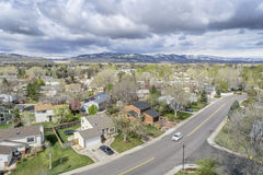 Aerial view of Fort Collins, Colorado Stock Photos