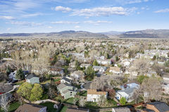 Aerial view of Fort Collins, Colorado Royalty Free Stock Images