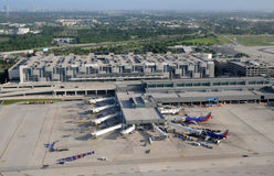 Aerial view of fort Lauderdale airport terminal Royalty Free Stock Photos
