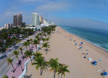 Aerial view of Fort Lauderdale Beach Royalty Free Stock Photos