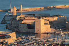 Aerial view of Fort Saint Jean in Marseilles Stock Photos