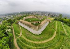 Aerial view on fort St. Pieter in Maastricht. Netherlands, famous tourist attraction Royalty Free Stock Photo