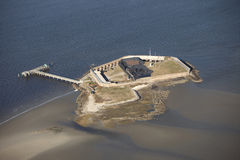 Aerial view of fort sumter Royalty Free Stock Images