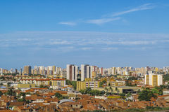 Aerial View of Fortaleza Brasil From Window Plane Royalty Free Stock Photo