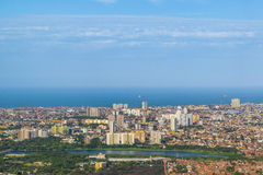 Aerial View of Fortaleza Brasil From Window Plane Stock Photography