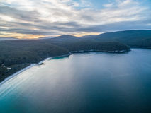 Aerial view of Fortescue bay, Tasmania Stock Image