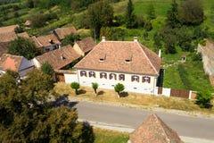 Traditional saxon house in Valea Viilor village, Transylvania, Romania Stock Photography