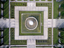 Aerial View of the Fountain located in Empire Square in Belem, Lisbon, Portugal Stock Photography