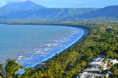 Aerial view of Four Mile Beach in Port Douglas Queensland, Austr Stock Image