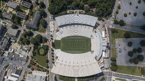 Aerial View Of Frank Howard Field At Clemson Memorial Stadium Royalty Free Stock Image