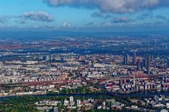 Aerial view Frankfurt Germany. Aerial view of Frankfurt Germany stock photography