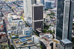 Aerial view of Frankfurt, Germany Royalty Free Stock Photo