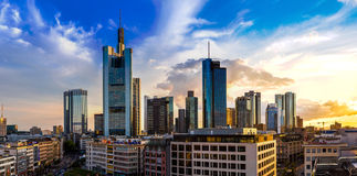 Aerial view of Frankfurt Stock Photography