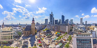 Aerial view of Frankfurt with Hauptwache. Royalty Free Stock Images