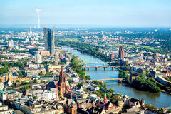 Aerial view of Frankfurt am Main city, Germany Royalty Free Stock Image