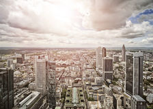 Aerial view of Frankfurt am Main Stock Images