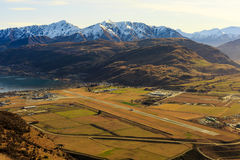 Aerial view of Frankton and Queenstown Airport Royalty Free Stock Image