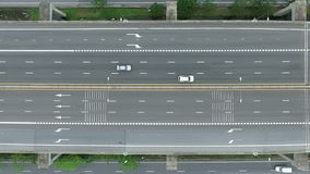 Aerial view of a freeway stock footage