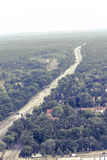Aerial view of the freeway A100 in berlin Stock Photo