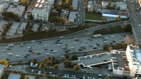 Aerial View of Freeway / Highway / Suburbs -Los Angeles - Clip 3. Aerial footage of Los Angeles freeways and suburbs.  Shot using a Sony EX3 camera stock video