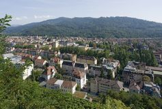 Aerial view of Freiburg im Breisgau Stock Photography