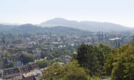 Aerial view of Freiburg im Breisgau Royalty Free Stock Photo