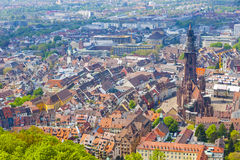 Aerial view of Freiburg im Breisgau, Germany Royalty Free Stock Photography