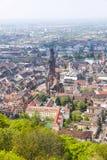 Aerial view of Freiburg im Breisgau, Germany Royalty Free Stock Photos