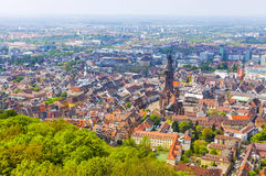 Aerial view of Freiburg im Breisgau, Germany Royalty Free Stock Images