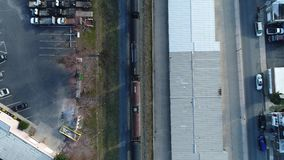 Aerial View of Freight Train stock video