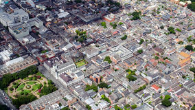 Aerial view of French Quarter, New Orleans, Louisiana royalty free stock photos
